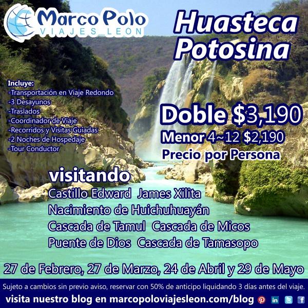 Flyer a la Huasteca Potosina 2014 - 05 MAR 14